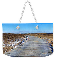 Weekender Tote Bag featuring the photograph Plum Island by Eunice Miller