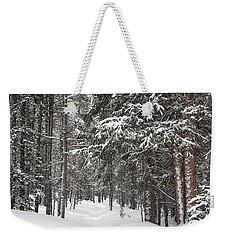 Woods In Winter Weekender Tote Bag by Eric Glaser