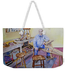 Woodworker Chair Maker Weekender Tote Bag by Anna Ruzsan