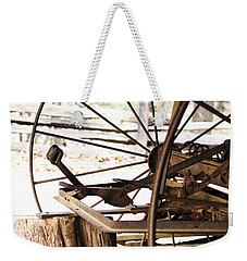 Weekender Tote Bag featuring the photograph Woody And Wheely by Faith Williams