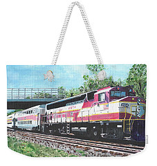 Worcester Bound T Train Weekender Tote Bag