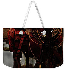Working Man's Saddle Weekender Tote Bag by Kim Henderson