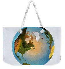 World 3d Globe Weekender Tote Bag
