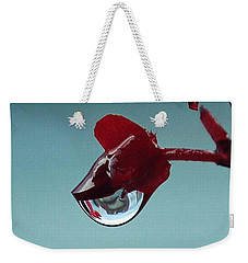 World In A Drop Weekender Tote Bag by Marija Djedovic