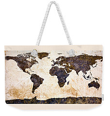 World Map Abstract Weekender Tote Bag