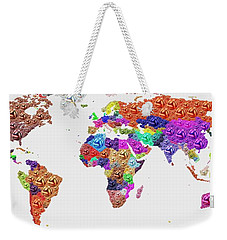 World Map - Soccer Football 2014 Weekender Tote Bag