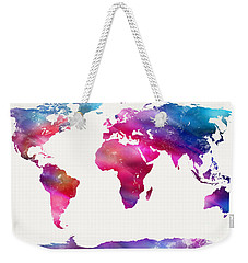 World Map Light  Weekender Tote Bag