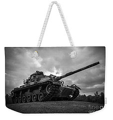 World War II Tank Black And White Weekender Tote Bag