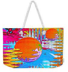 Worlds Apart Weekender Tote Bag