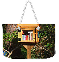 Weekender Tote Bag featuring the photograph World's Smallest Library by Gordon Elwell