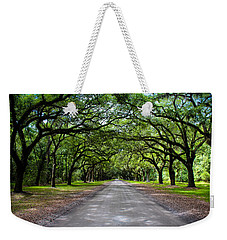 Weekender Tote Bag featuring the photograph Wormsloe by Jessica Brawley