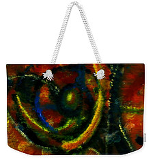 Weekender Tote Bag featuring the painting Worship In Movement by Leanne Seymour