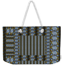 Woven Blue And Gold Mosaic Weekender Tote Bag