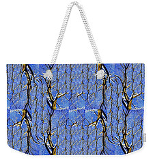 Woven Tree In Blue And Gold Weekender Tote Bag