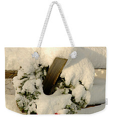 Weekender Tote Bag featuring the photograph Wreath  by Alana Ranney