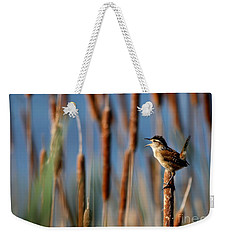 Wren Singing Weekender Tote Bag