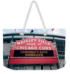 Weekender Tote Bag featuring the photograph Wrigley Field Weeps For America by Sheri Keith