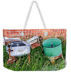 Weekender Tote Bag featuring the photograph Wringer Washer And Laundry Tub by Sue Smith