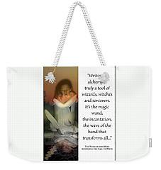 Writing Is Alchemy Weekender Tote Bag