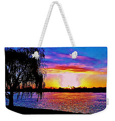 Wyandotte Mi Sunrise Weekender Tote Bag by Daniel Thompson