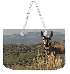 Wyoming Pronghorn Weekender Tote Bag