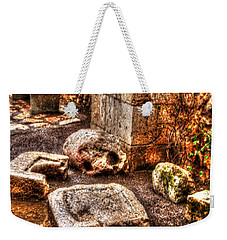 Weekender Tote Bag featuring the photograph Stones That Don't Lie - Israel by Doc Braham