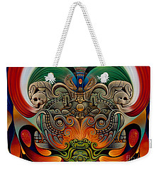 Xiuhcoatl The Fire Serpent Weekender Tote Bag