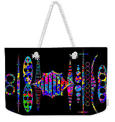 Weekender Tote Bag featuring the photograph Xongulo City by Mark Blauhoefer