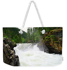 Yaak Falls Weekender Tote Bag by Jeff Swan