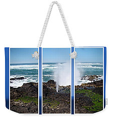 Yachats Bay Oregon Weekender Tote Bag by Nick Kloepping