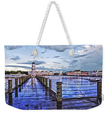 Yacht And Beach Club Lighthouse Weekender Tote Bag by Thomas Woolworth