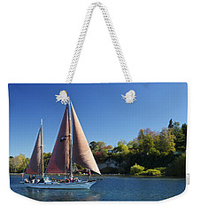 Yacht Fearless On Lake Taupo  Weekender Tote Bag by Venetia Featherstone-Witty