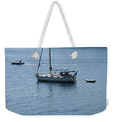 Yachts At Anchor Weekender Tote Bag