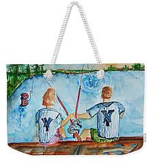 Yankee Fans Day Off Weekender Tote Bag