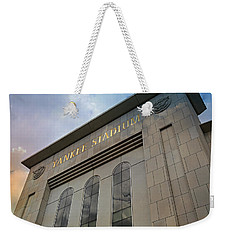 Yankee Stadium Weekender Tote Bag by Stephen Stookey