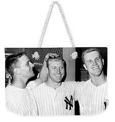 Yankees Celebrate Victory Weekender Tote Bag by Underwood Archives