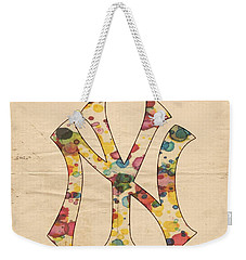 Yankees Vintage Art Weekender Tote Bag by Florian Rodarte