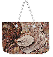 Weekender Tote Bag featuring the painting Year Of The Rooster by Darice Machel McGuire