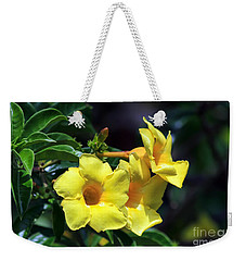 Yellow Allamanda Weekender Tote Bag by Teresa Zieba