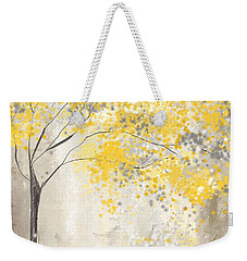 Yellow And Gray Tree Weekender Tote Bag