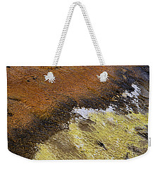 Weekender Tote Bag featuring the photograph Yellow And Orange Converging by Nadalyn Larsen