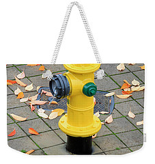 Wearing Fall Colors Weekender Tote Bag by E Faithe Lester