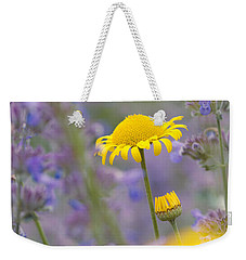 Yellow And Purple Flowers On A Green Summer Meadow Weekender Tote Bag