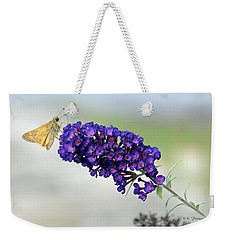 Yellow And Purple Weekender Tote Bag by Kenny Francis