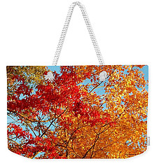 Yellow And Red Weekender Tote Bag