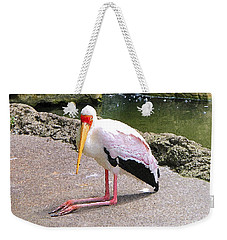 Weekender Tote Bag featuring the photograph Yellow-billed Heron by Sergey Lukashin