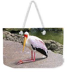Yellow-billed Heron Weekender Tote Bag by Sergey Lukashin