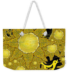 Yellow Bird Sings In The Sunflowers Weekender Tote Bag