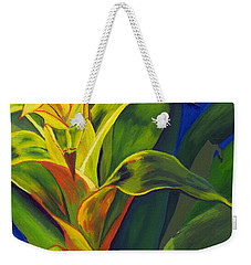 Yellow Bromeliad Weekender Tote Bag