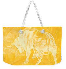 Yellow Bull Negative Weekender Tote Bag